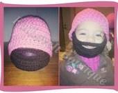 Children's Crochet Beard Hat