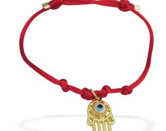 SALE Kabbalah String Bracelet/ Hamsa Bracelet/ Hand of Fatim/ Evil Eye Bracelet