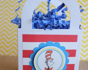 24x Cat In The Hat Favor Boxes - Birthday Party/Baby Shower