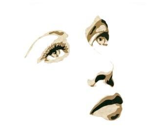 """Original Hand-Cut Paper Portrait - """"Ida Lupino"""""""