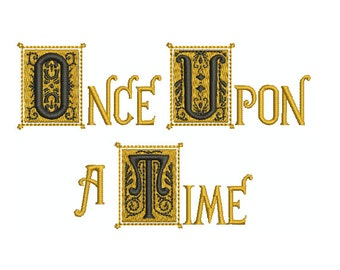 "Machine Embroidery Design Instant Download - ""Once Upon A Time"" Henry's Book"