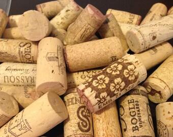 Assorted Lot of 10 Salvaged Natural Wine Corks - Vase Filler, Wine Party Decor, Wedding Decoration, Cork Craft Supply