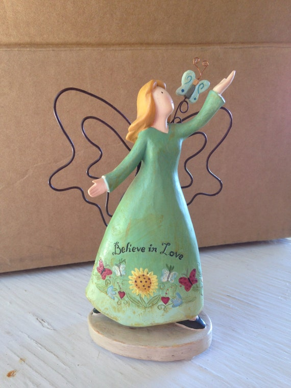 Hand Painted Angel Figurine Russ Berrie Amp Co Inc Country