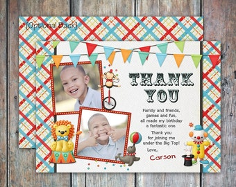 Carnival Games Circus Birthday Thank You Card