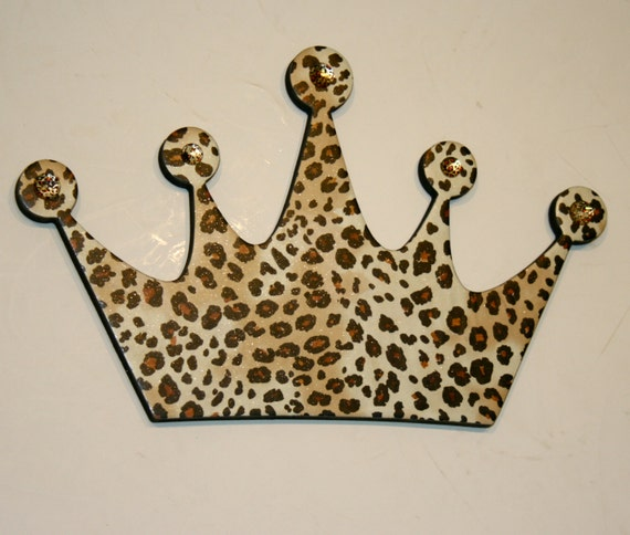 Black Crown Wall Decor : Leopard princess crown wall decor diva by finchnwillowboutique