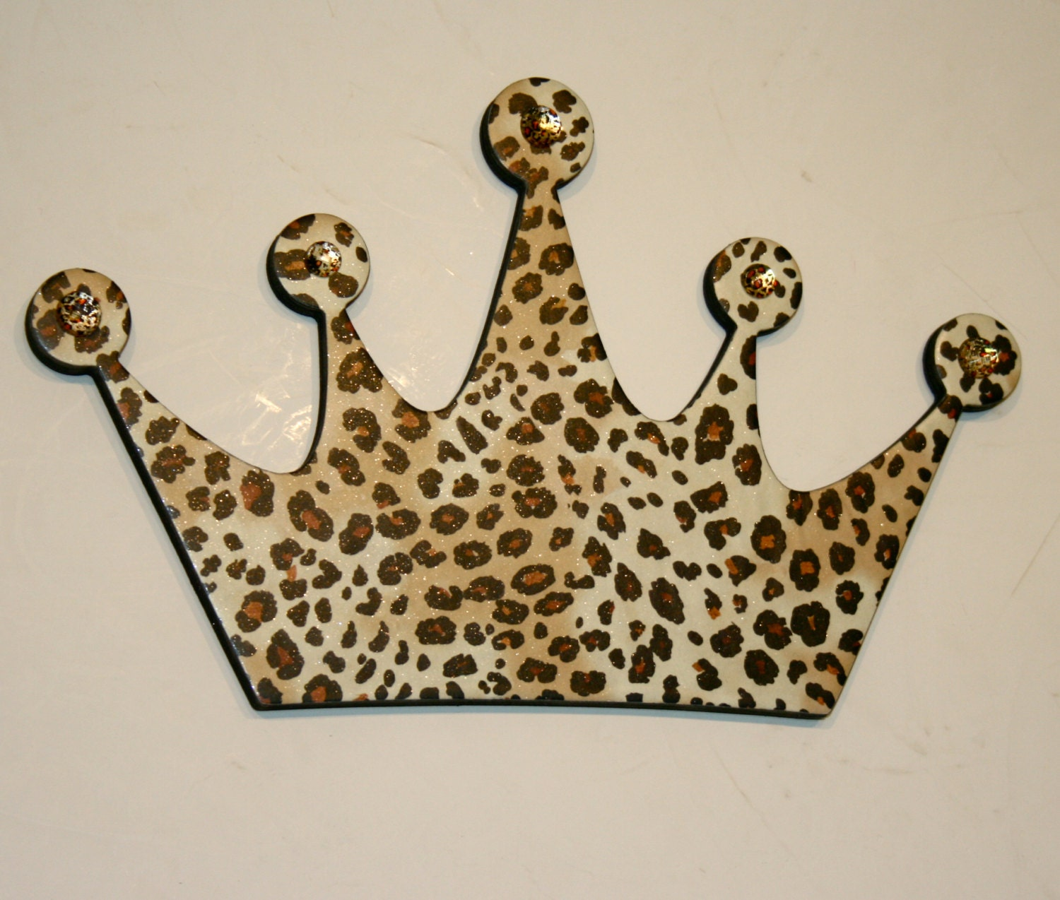 Leopard Princess crown wall decor Diva wall decor Leopard