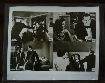 AVENGERS ACTION/////////Original Black and White Action Frames from 1960s Spy Fi Show