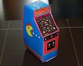 Personalized PRINTABLE Retro Ms Arcade Machine Party Favor Box