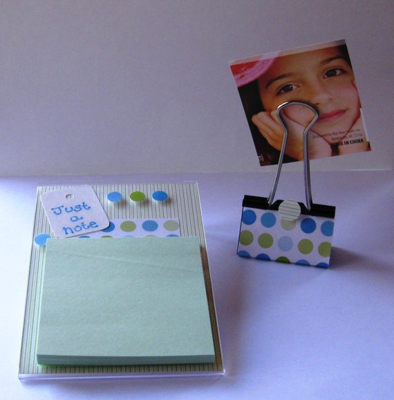 Post It Note Holder Handmade Frame Note Pad Paper Photo