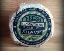 Mens Shave Soap / Bentonite Clay Shave Soap / Man Soap / Fresh Scent Shave / For Him Fathers Day