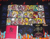 Dark Carnival Tarot Deck, with FREE Custom Painted Tarot Pouch (signed by the artist)