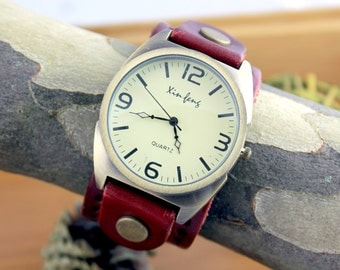Leather Watches, Bracelet Watches, Leather Watch Band SALE High Quality