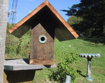 Rustic Repurposed Recycled Salvaged Barnboard Birdhouse