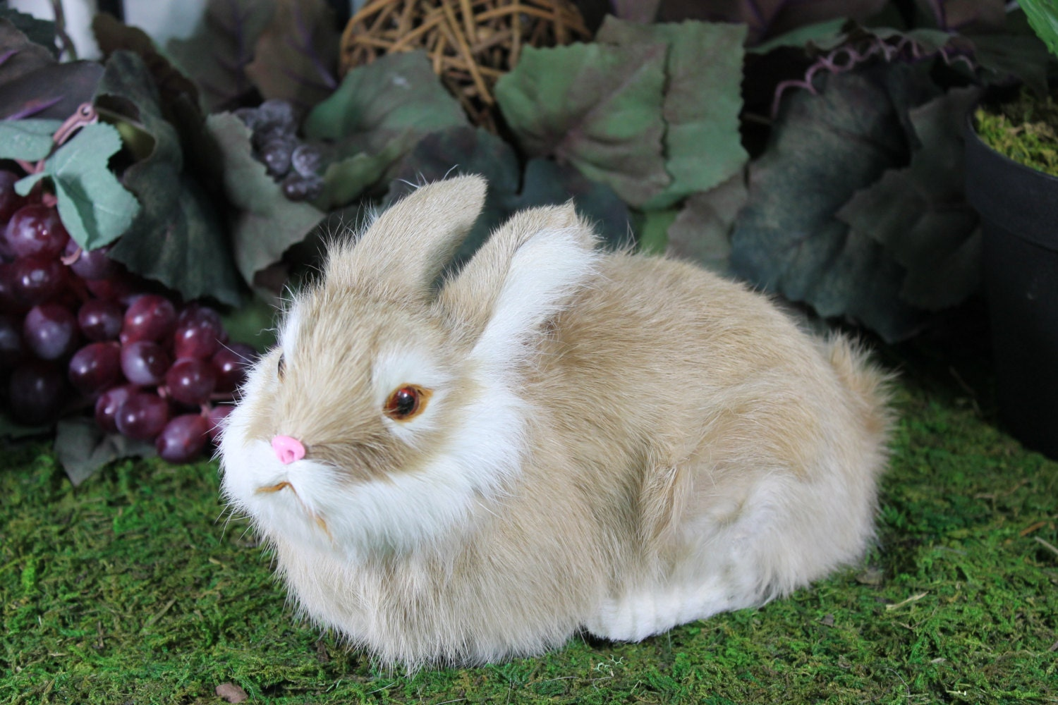 brown tan rabbit lying easter bunny furry animal taxidermy