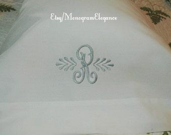 Custom Monogrammed Organic Pillowcase Set
