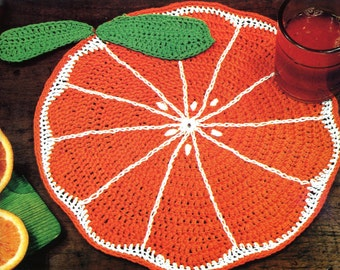Delicious Crochet Orange Slice Placemat Pattern