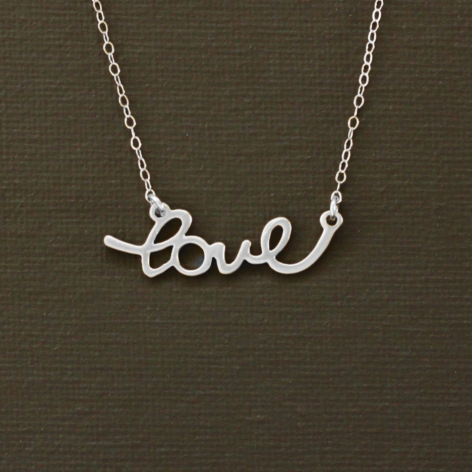Love Silvers: Silver Love Necklace