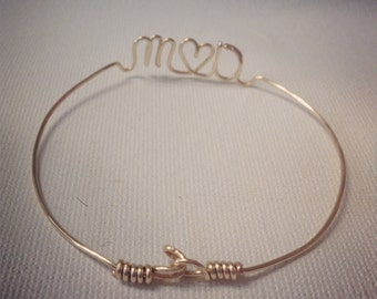 Custom Wire Bracelet W/ CLASP