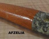 Handmade pipestone bowl EXOTIC AFZELIA