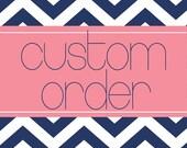 CUSTOM ORDER - Allison - Bridal Party Hangers