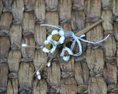 Rustic Pale Aqua Shabby Chic Flower Embellishment FL-20
