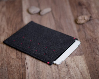 LG G Pad 8.0 8.3 7 case  sleeve cover, dotted anthracite felt