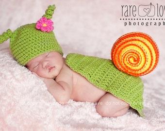 Crocheted Spring Snail Set
