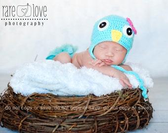 Little Birdie Crocheted Infant Hat 0-3 months