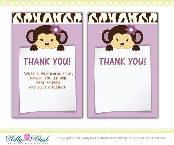cocalo jacana baby shower thank you note card thank you tag diy
