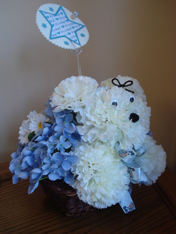 Baby Boy Gifts Flowers : Baby boy nursery flower arrangement gift