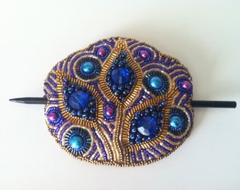 Beaded Hair Buckle - Medium-Large Size