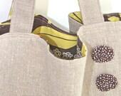 Medium Linen Tote Bag