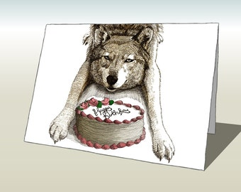Wolf Birthday Card