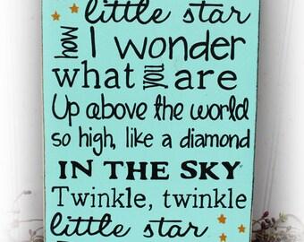 Twinkle, Twinkle Little Star Wood Sign