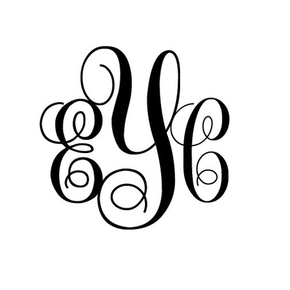 Wall monogram decals initials hd images