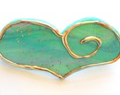 Minty Teal Heart Barrette Hair Accessory, Hair clip, Heart Barrette, Mint Green, Spring Hair Fashion,