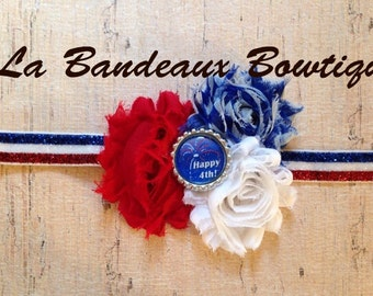 Shabby Chic Independence Day / 4th of July Patriotic Headband