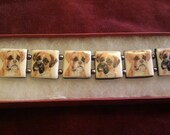 Boxer Dog Bracelet the Pictures are Drawn by me Colette David