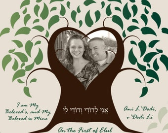 FRAMED Canvas Ketubah with your Photo