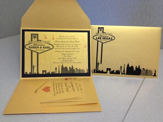 Elegant Wedding Invites Coupon: Elegant Las Vegas Themed Wedding Invitation-Custom Colors