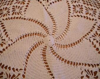 Pinwheel doily.  large crocheted doily
