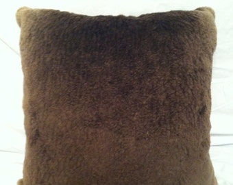 Genuine American Long Sheared Beaver Pillow