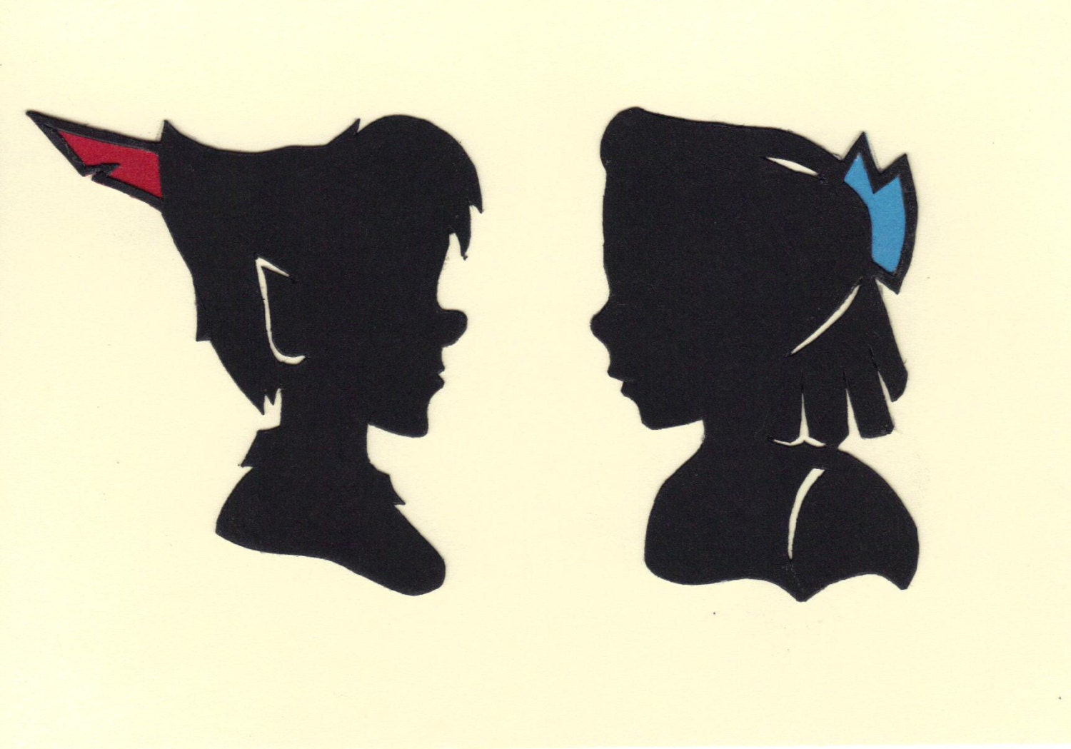 Peter Pan and Wendy Silhouettes