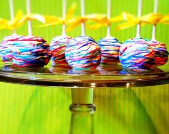 Multi color / rainbow cake pops