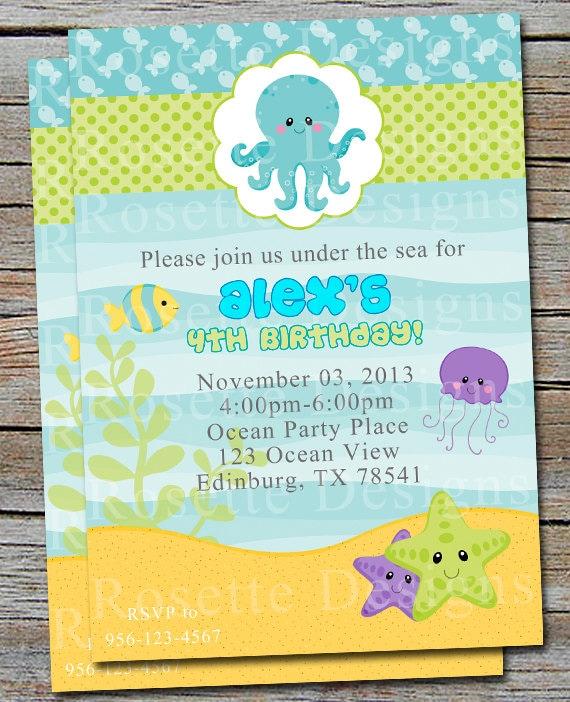 Baby Shower Invitations Under The Sea for luxury invitation ideas