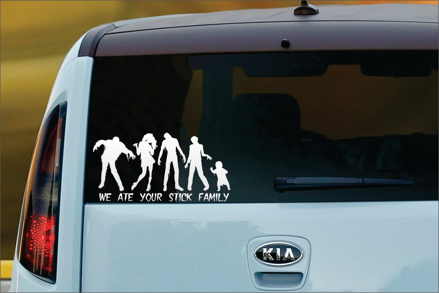 We Ate Your Stick Family CUSTOM Vinyl Window Decal Sticker - Car decal stickers custom