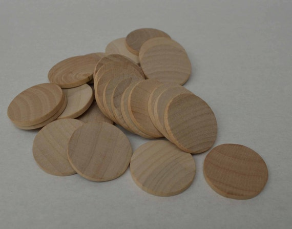 1 1 4 wood discs wood coins set of 25 unfinished wood for Wood circles for crafts