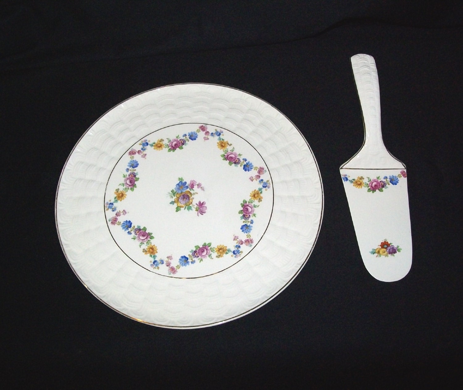 REDUCED Vintage Two-Piece Made in Germany Erphila Cake Plate