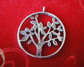 925 sterling silver oxidized  tree of life charm, silver tree of life charm or pendant, 1 pc. tree of life, tree of life, family tree