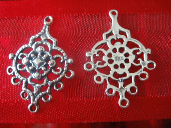 2 pc.925 sterling silver Chandelier Earring Components